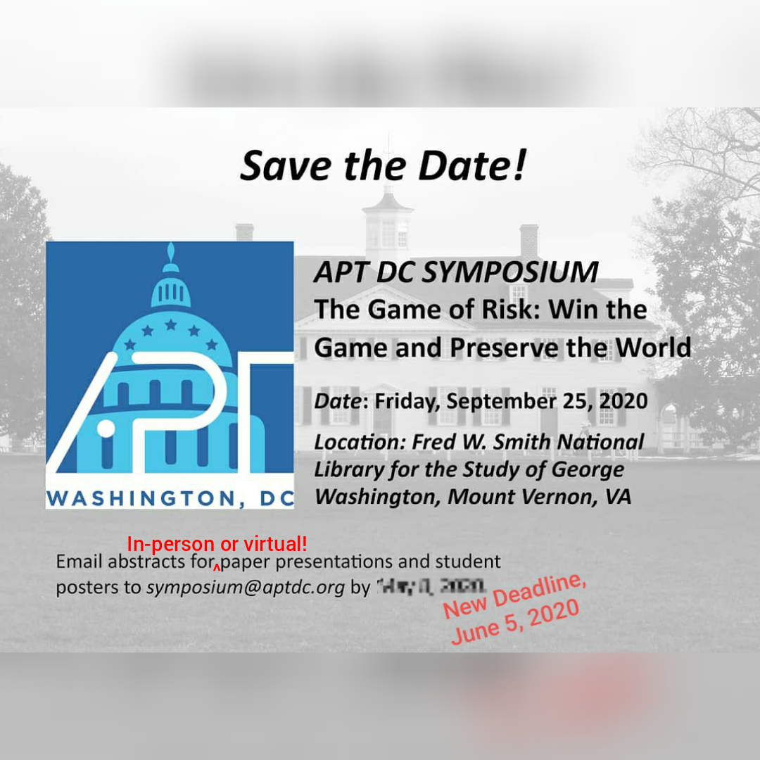 Save the date for the 2020 Symposium.